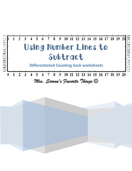 Counting back using a number line within 20