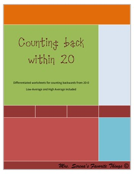 Counting back within 20