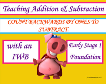Counting backwards by ones to subtract
