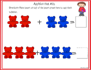 Counting bears: Addition (differentiated)