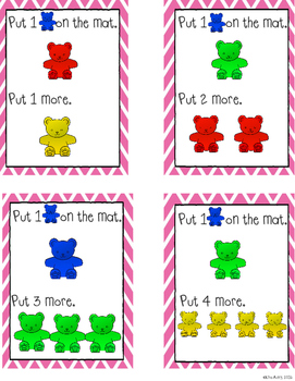 """Counting bears: """"More"""" and """"Fewer"""" task cards"""