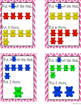 """Counting bears: """"More"""" task cards"""