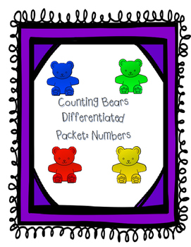 Counting bears: Number booklet and work mats (differentiated)