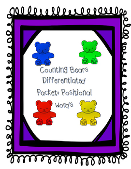 Counting bears: Positional words (differentiated)
