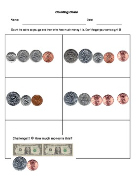 Counting bills and coins