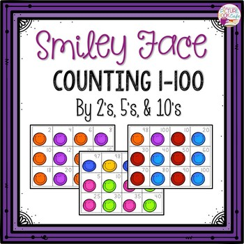 Counting by 1's, 2's, & 10's Smiley Faced Themed