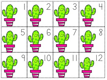 Counting by 1's, 2's & 5's Cactus Themed