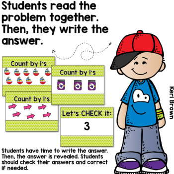 Counting by 1's - Number Sense Math Center Powerpoint See it Write it