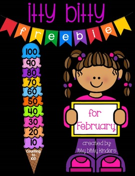 Counting by 10's Center for February, 100th day of school