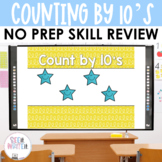 Counting by 10's - Number Sense Math Center Powerpoint See