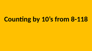 Counting by 10's Off the Decade (8) Fluency PPT