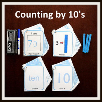 Kindergarten MATH Task Cards: Counting by 10's