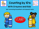 Counting by 10's with Crayons and Kids self correcting Int