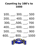 Skip Counting by 100's to 1000 Freebie