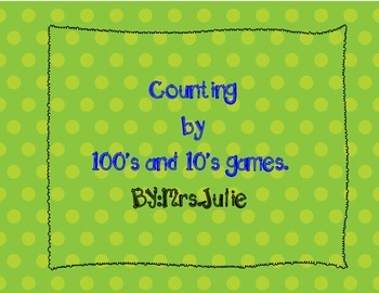 Counting by 100's & 10's games