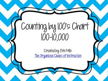 Counting by 100s Chart