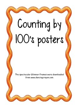 Counting by 100's posters