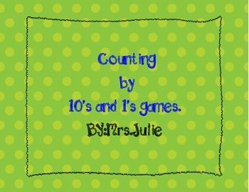 Counting by 10's & 1's games