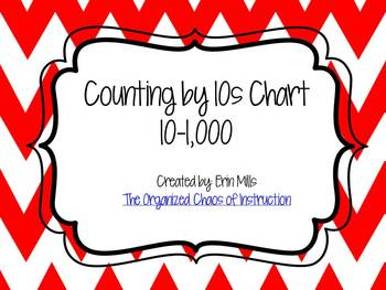 Counting by 10s Chart