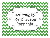 Counting by 10s Chevron Pennants