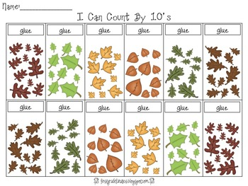 Counting by 10's Math Activity