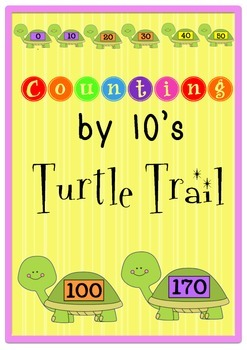 Counting by 10's Turtle Trail- Poster display