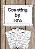 Counting by 10s Worksheets