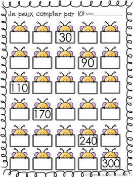 Counting by 10s in French
