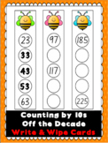 Counting by 10s off the decade Write & Wipe Cards