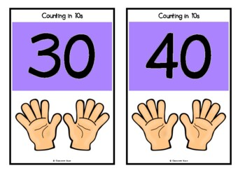 Counting by 10s on Playing Cards