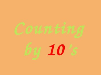 Counting by 10's powerpoint