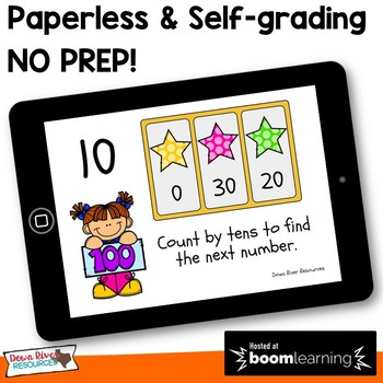 Counting by 10s to 100 Boom Cards (Kindergarten & First Grade TEKS)