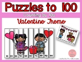 Counting by 10s to 100 Puzzles- Valentine Theme