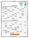 Counting by 1's, 2's, 3's, 4's, 5's, and 10's to 1000 Worksheets