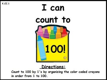 Counting by 1's and 10's (Math Center Activity)