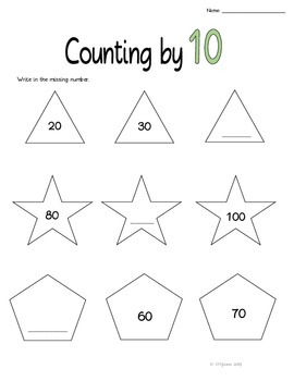Counting by 2, 5, and 10
