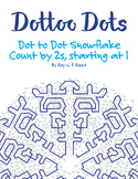 Counting by 2, Starting at 1, Dot to Dot Snowflake Winter Math Activity
