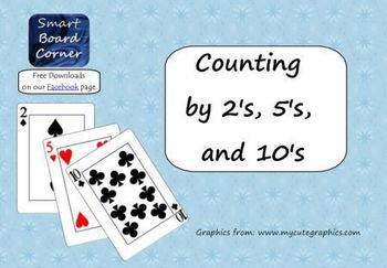 Counting by 2's, 5's, and 10's Smart Board Lesson