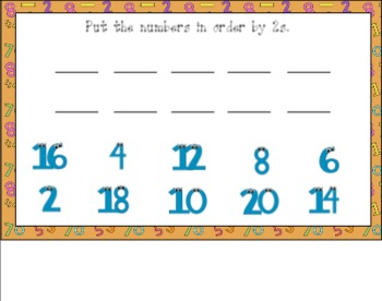 Counting by 2s Activity Set for Smart Board