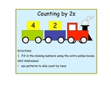 Counting by 2s File Folder Game
