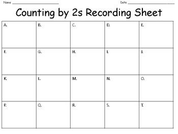 Counting by 2s Task Card