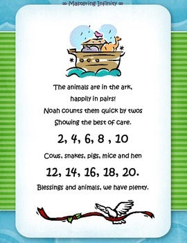 FREEBIE:  Counting by 2's Craft: Noah's Ark Style