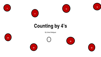 Counting by 4's