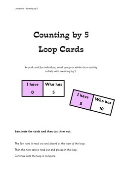 Counting by 5 - Loop Cards