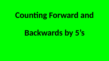 Counting by 5's Fluency PPT