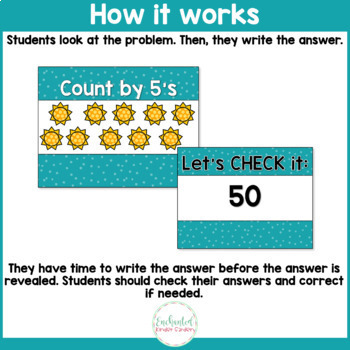 Counting by 5's - Number Sense Math Center Powerpoint See it Write it