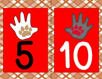 Counting by 5's and 10's dog theme