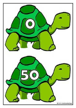 Counting by 50s on Tortoises