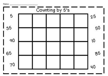 Counting by 5's Chart FREEBIE
