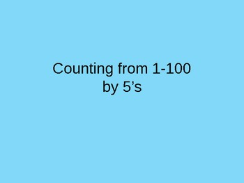 Counting by 5's Intervention